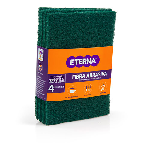 ESPONJA FIBRA ABRASIVA ANTIBACTERIAL